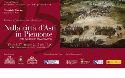 """Inaugurazione della nuova Mostra a Palazzo Mazzetti """"Nella città d'Asti in Piemonte"""". Arte e cultura in epoca moderna"""