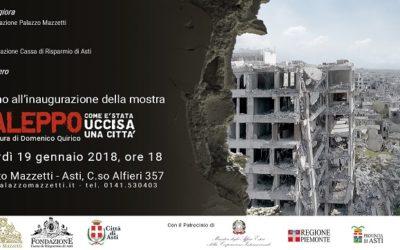 """Una nuova mostra a Palazzo Mazzetti: """"Aleppo. Com'è stata uccisa una città"""""""