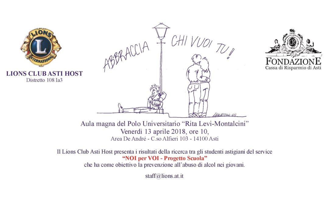 "Invito ""Noi per Voi"" Venerdi' 13 aprile 2018, h 10 – aula Magna Polo universitario Rita Levi-Montalcini"
