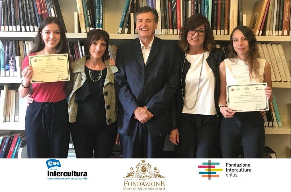 La Fondazione Cassa di Risparmio di Asti premia la meglio gioventù: a due studentesse la possibilità di formarsi in Svezia e Argentina