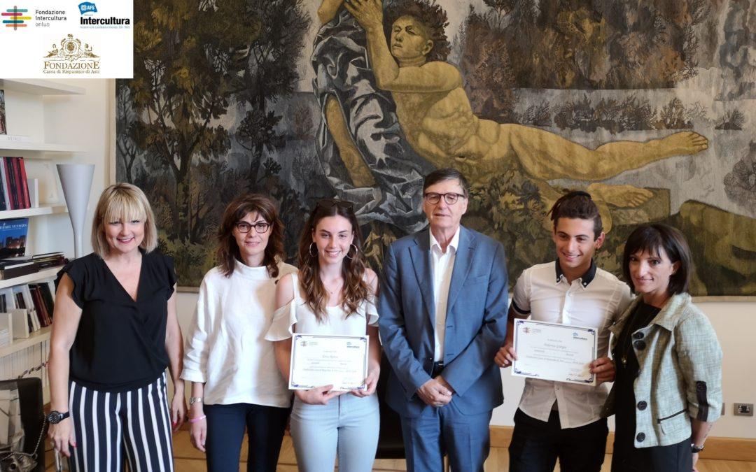 INVESTIRE IN INTERCULTURA: le borse di studio di Fondazione Cassa di Risparmio di Asti  per crescere una nuova generazione di cittadini del mondo